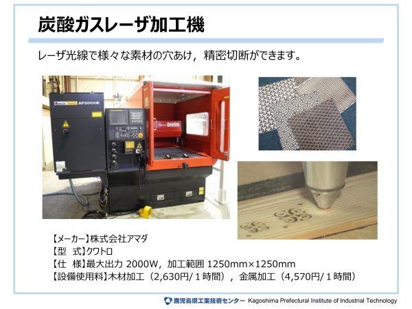 炭酸ガスレーザ加工機