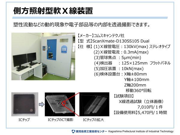 側方照射型軟X線装置
